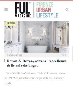 Ful Magazine - Devon&Devon, ovvero l'eccellenza delle sale da bagno