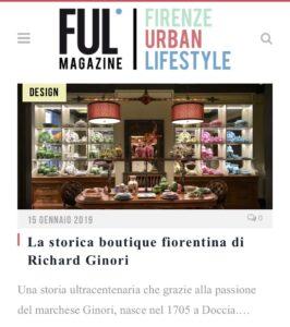 Ful Magazine - La storica boutique fiorentina di Richard Ginori