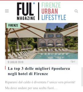 Ful Magazine - La top 3 delle migliori #poolarea negli hotel di Firenze