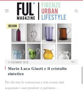 Ful Magazine - Mario Luca Giusti e il cristallo stintetico