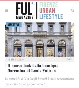 Ful Magazine - Il nuovo look della boutique fiorentina di Louis Vuitton