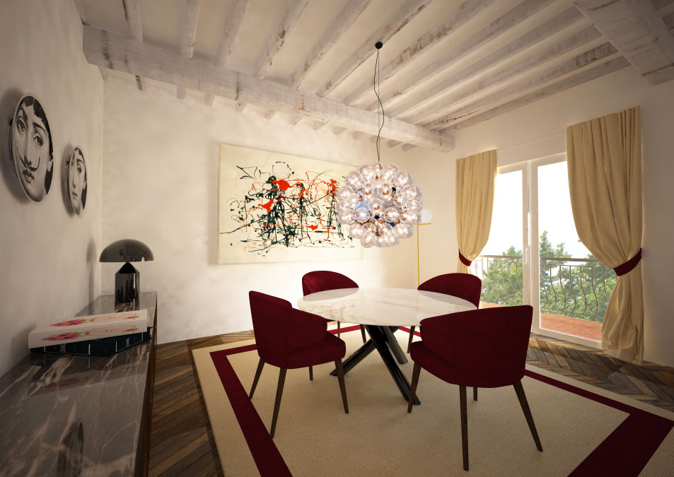 Sala da pranzo in stile contemporaneo 2