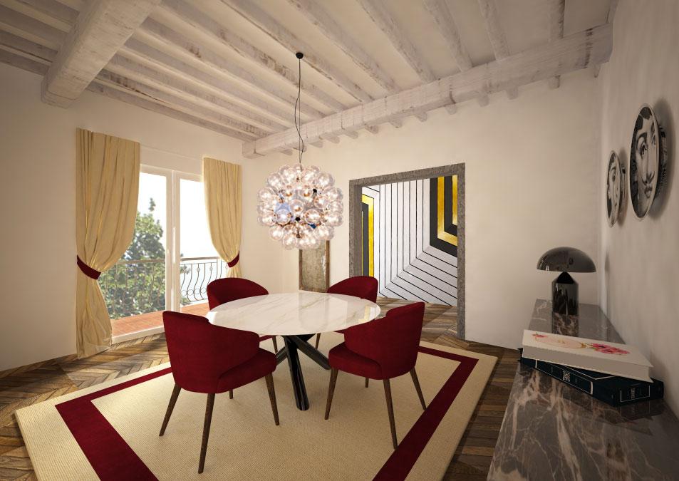 Sala da pranzo in stile contemporaneo 3