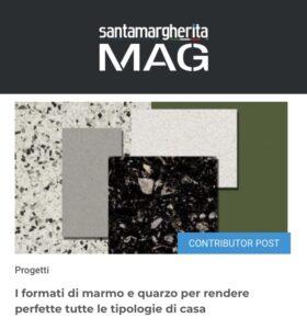 santamargherita MAG - I formati di marmo e quarzo per rendere perfette tutte le tipologie di casa