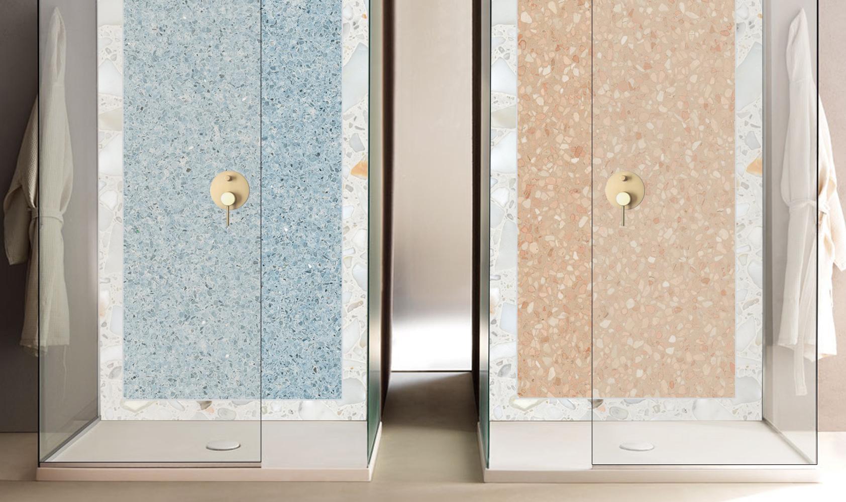 Rivestimento per docce in marmo & quarzo 2