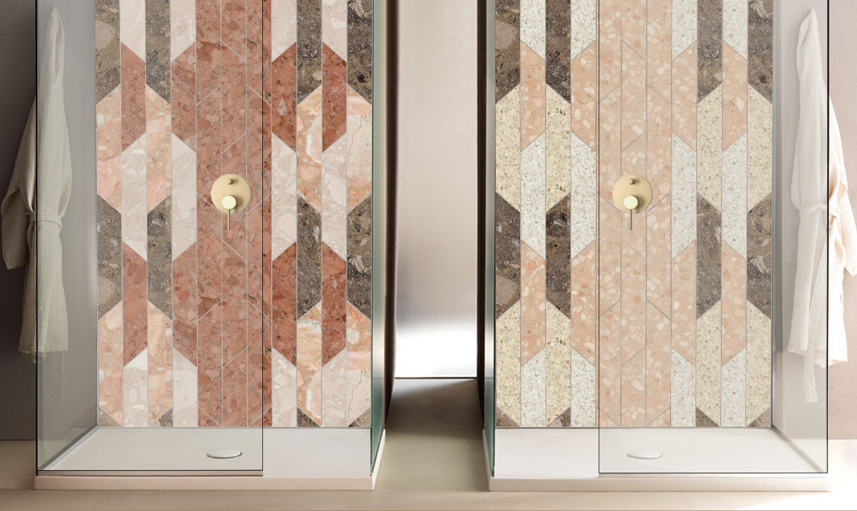 Rivestimento per docce in marmo & quarzo 4